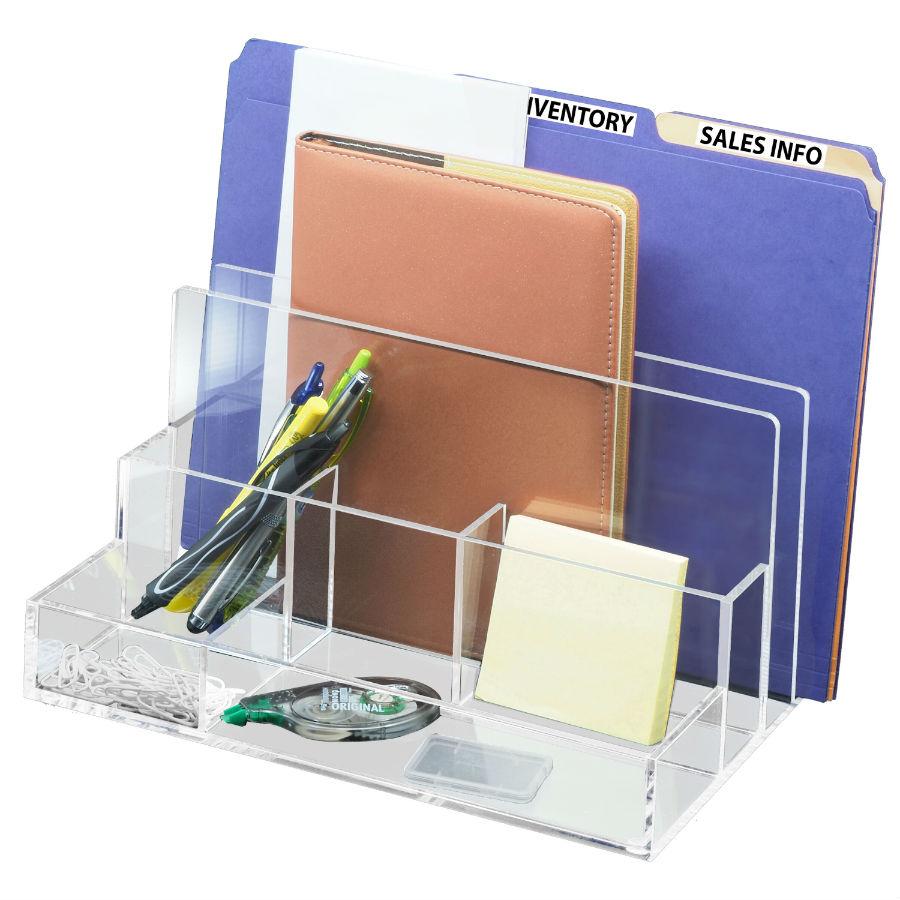 Acrylic File Sorter Desk Organizer Br Mark New Mark Kantek Inc